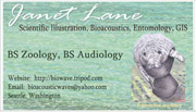 business card for J. Lane